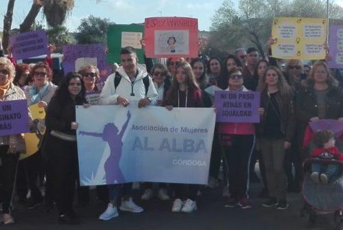 Marcha por el 8 de marzo en Sureste, puro FEBS con Al-Alba, IES La Fuensanta, IES Galileo Galilei y CEIP Fernán Pérez de Oliva