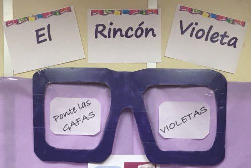 Rincón Violeta en la Biblioteca