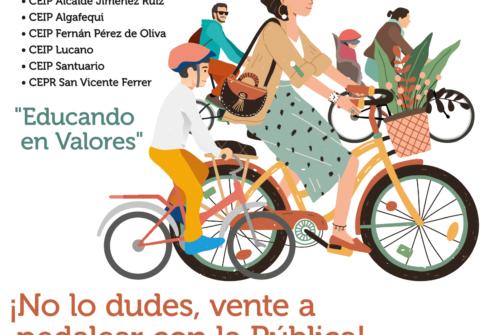 Paseo en bici – Escuela Pública por la PAZ en el Distrito Sureste